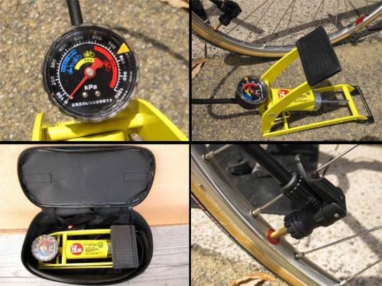 自転車の 自転車 空気 : !本格自転車用足踏み式空気 ...