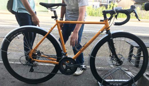 富山の通勤にぴったり、シクロクロスバイク ARAYA アラヤ CXG フェンダー取り付けカスタム