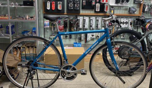 富山 春のおすすめクロスバイク完成車 ラレー Raleigh 通勤通学、ツーリングにスタイルある細身アルミ自転車