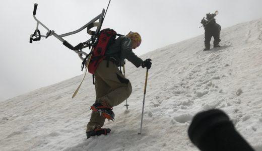 スノースクートでバックカントリー写真集特集 雪山登攀
